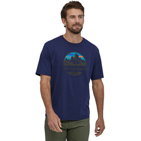 Patagonia Fitz Roy Scope Organic Camiseta Hombre, classic navy